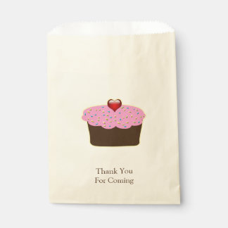 Personalized Strawberry Heart Cupcake Themed Gifts Favour Bags