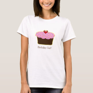 Personalized Strawberry Heart Cupcake Themed Gifts T-Shirt