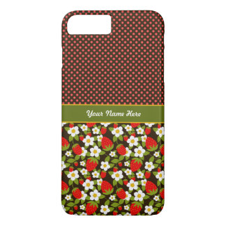 Personalized Strawberry Patch iPhone 7 Pluse Case