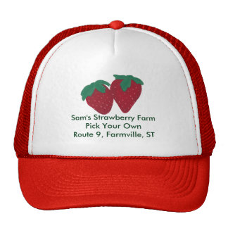 Personalized Strawberry Strawberries Hat