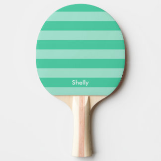 Personalized striped table tennis ping pong paddle