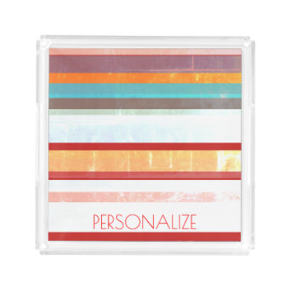 Personalized Stripes Acrylic Tray