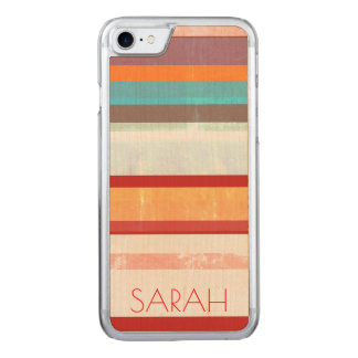Personalized Stripes Carved iPhone 8/7 Case