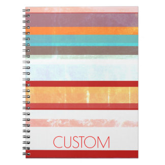 Personalized Stripes Notebook