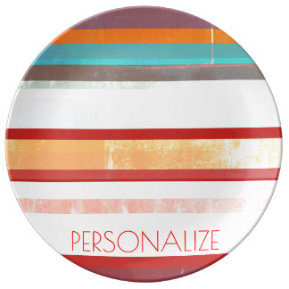 Personalized Stripes Plate