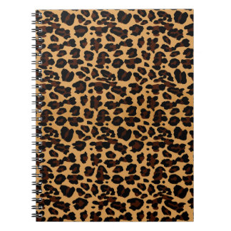 Personalized Stylish Chic Animal Leopard Print Notebooks