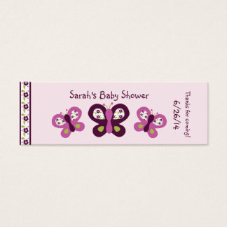 Personalized Sugar Plum Butterfly Favor/Tags Mini Business Card