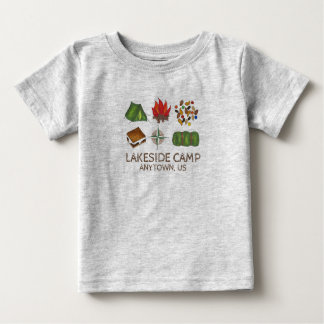 Personalized Summer Camp Camping Baby Shirt