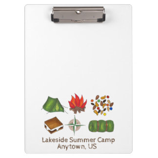 Personalized Summer Camp Counselor Clipboard