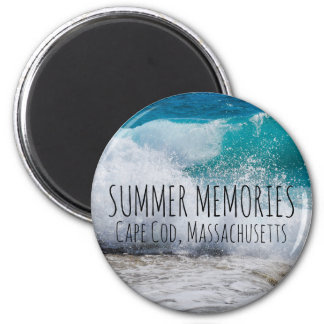 Personalized Summer Memories Beach 6 Cm Round Magnet