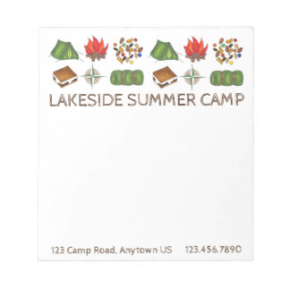 Personalized Summer Sleepaway Camp Camping Pad
