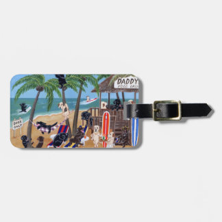 Personalized Summer Vacation Labradors Luggage Tag