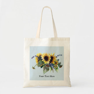 Personalized Sunflower Bouquet Tote Bag