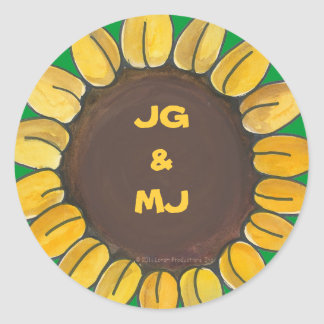 Personalized Sunflower Sticker