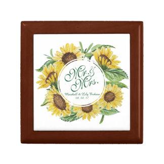 Personalized Sunflower Wedding Gift Box