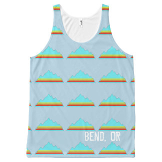 Personalized Sunset Mountain tank top