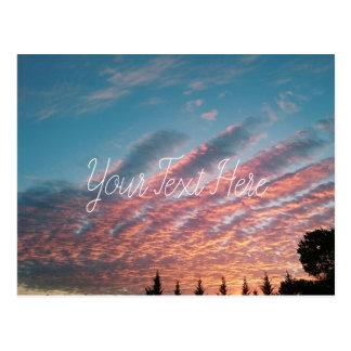 Personalized Sunset Pink Clouds Landscape Postcard