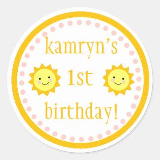 Personalized Sunshine 1st Birthday Sticker