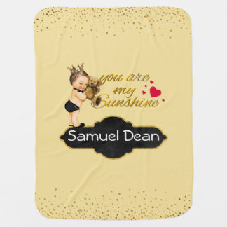 Personalized Sunshine Song | Prince Nursery Throw Baby Blanket