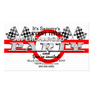 Personalized Supercharged Performance Party Pack Of Standard Business Cards