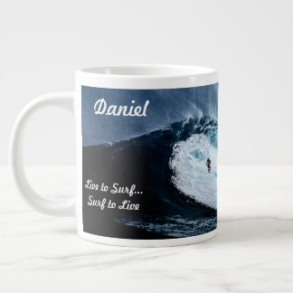 Personalized Surfer Coffee Cup