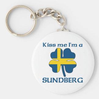 Personalized Swedish Kiss Me I'm Sundberg Basic Round Button Key Ring