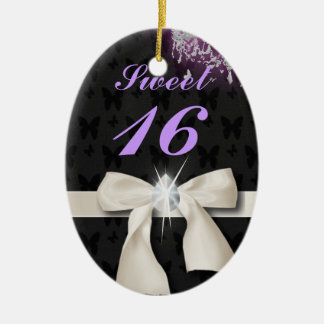 Personalized Sweet 16 Christmas Ornament