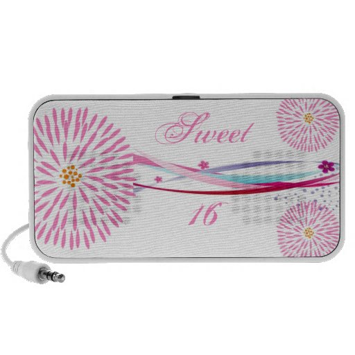Personalized Sweet 16 Doodle iPhone Speaker