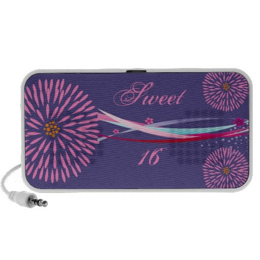 Personalized Sweet 16 Doodle Mp3 Speakers