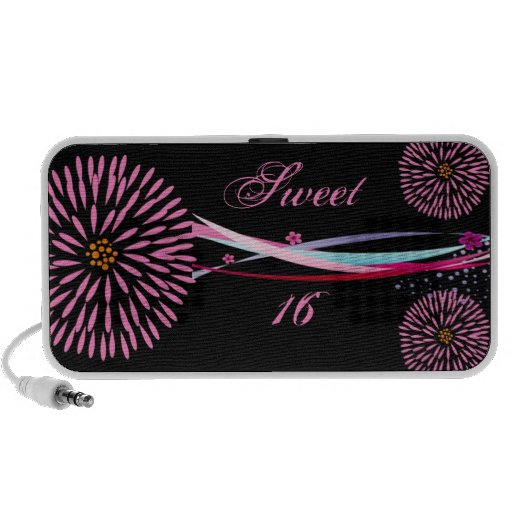 Personalized Sweet 16 Doodle Portable Speakers