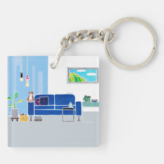 Personalized SWEET HOME Acrylic Keychain