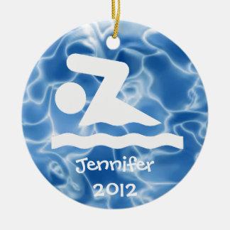 Personalized Swim Design Ornament