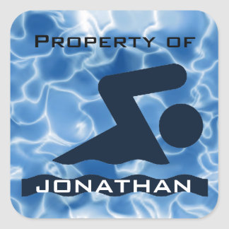 Personalized Swimming Sticker