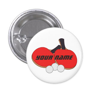 Personalized Table Tennis Ping Pong 3 Cm Round Badge