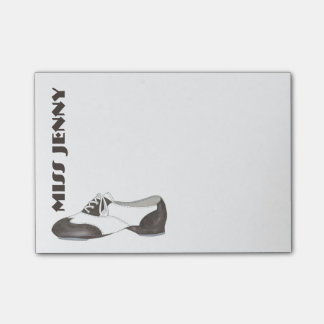 Personalized Tap Shoe Dance Teacher Gift Post-Its