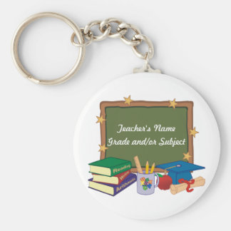 Personalized Teacher Basic Round Button Key Ring