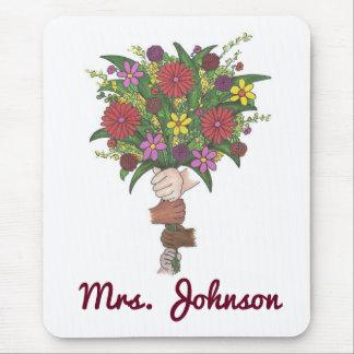 Personalized Teacher Flower Bouquet Mousepad