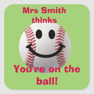 Personalized Teacher stickers -  on the ball