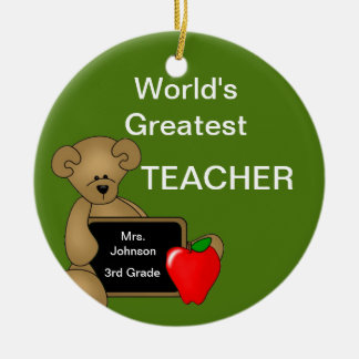 Personalized Teacher's Bear Ornament