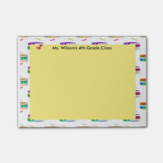 Personalized Teachers Books Pencil Paper Post-it® Post-it Notes