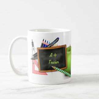 Personalized Teacher's Chalkboard Basic White Mug