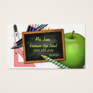 Personalized Teacher's Chalkboard Business Card