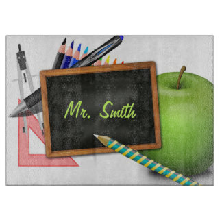 Personalized Teacher's Chalkboard Cutting Board