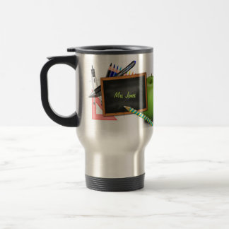 Personalized Teacher's Chalkboard Stainless Steel Travel Mug