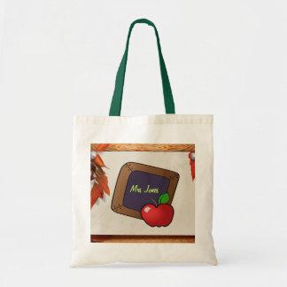 Personalized Teacher's Chalkboard Tote Bag