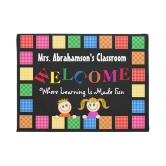 Personalized Teacher's Fun Welcome Doormat