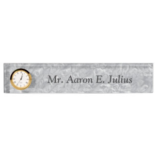 Personalized Teacher's Marble Nameplate Clock Gift