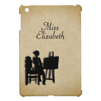 Personalized Teacher's Room Leather Look iPad Mini Covers