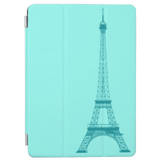 Personalized Teal Blue Tiffany Eiffel Tower iPad Air Cover