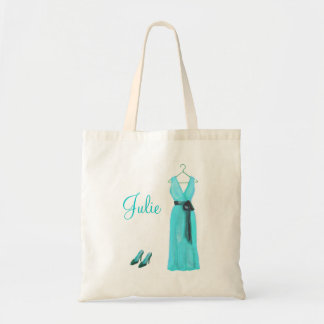 Personalized Teal Bridesmaid Tote